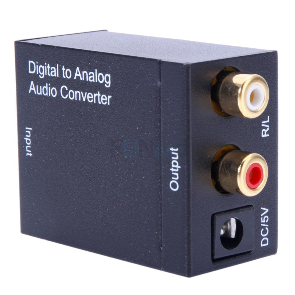 digital optical toslink coax to analog l r rca audio converter adapter cable fy ebay. Black Bedroom Furniture Sets. Home Design Ideas